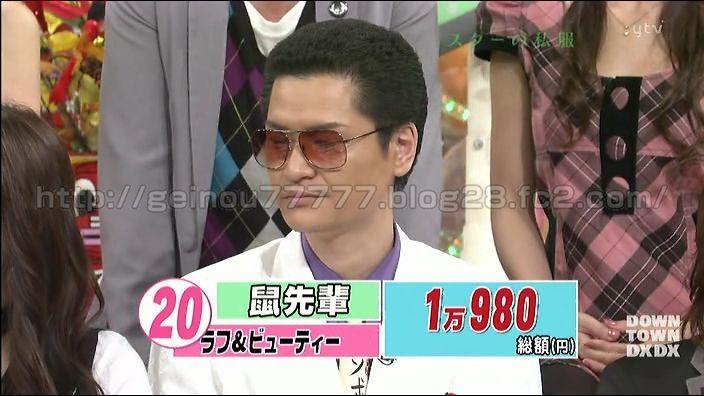 総額1万980円。鼠先輩の私服とは